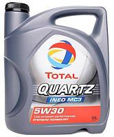 Масло моторное Total Quartz Ineo MC3 5W-30, 5л, синтетическое