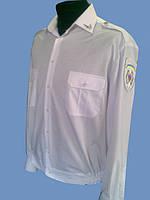 Форменная рубашка белая на длинный рукав