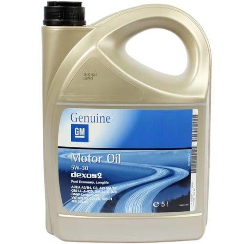 Моторное масло полусинтетика GM Dexos 2 5W-30, 5л