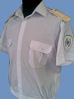 Форменная рубашка белая на короткий рукав