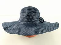 Соломенная шляпа Котьир 48 см синяя