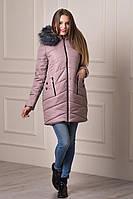 Женская молодежная зимняя куртка с капюшоном Keilly бежевого цвета  БЕСПЛАТНАЯ ДОСТАВКА!!!
