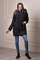 Зимняя женская куртка с капюшоном Keilly черного цвета  БЕСПЛАТНАЯ ДОСТАВКА!!!
