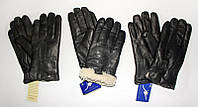 Мужские перчатки кожаные на меху