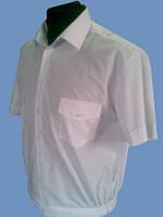 Форменная рубашка белая с коротким рукавом ( МЧС )