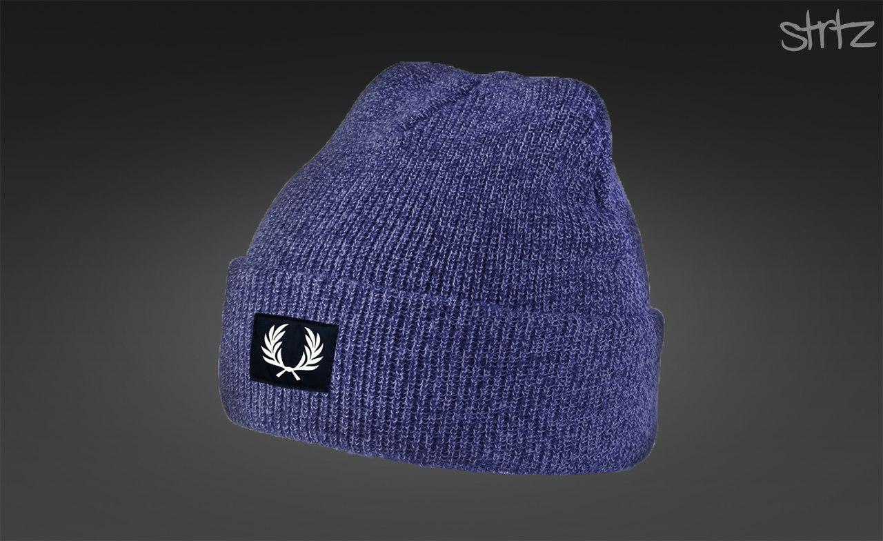 Женская/мужская синяя шапка фред перри/Fred Perry