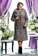 Пальто женское кашемир большие размеры П-728 (н/м) Тк.пальт.Сashimire Тон 1