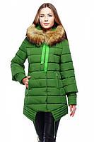 Зимняя зеленая куртка для женщины