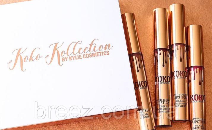 Матовые жидкие губные помады Kylie Cosmetics KOKO KOLLECTION 4 шт.