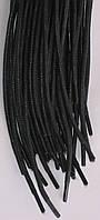 Шнурки черные круглые пропитанные толстые 100см синтетика