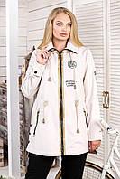 Женская куртка с капюшоном В-1021 МФ 101999 Тон 43