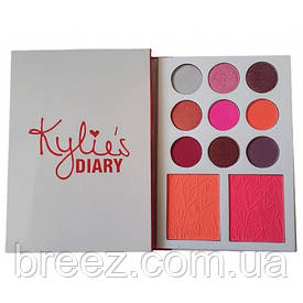 Палетка румяна и тени Kylie diary pressed powder palette