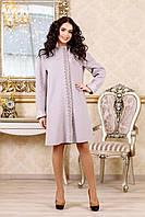 Весеннее пальто женское стильное В-1022 Aрт.160416 Тон 19