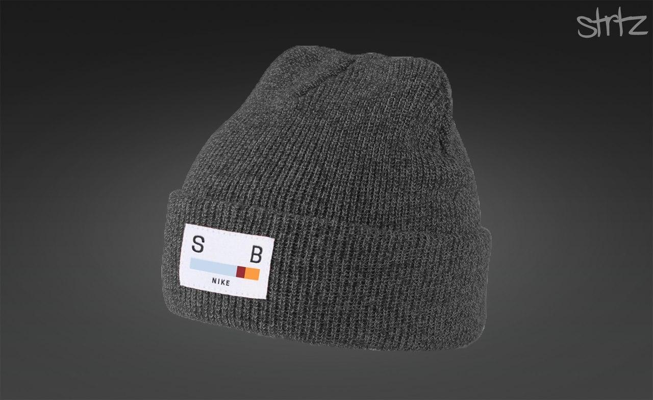 Мужская/женская зимняя шапка найк/Nike SB Melange Winter Beanie