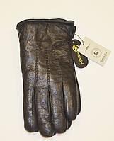 Мужские перчатки кожаные на натуральном меху
