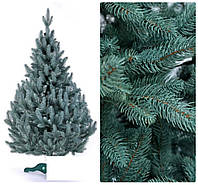 Елка литая голубая 2.5м, новогодняя с подставкой
