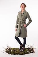 Кашемировое пальто Тур-7 зеленый