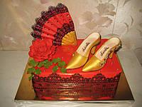 Стильный юбилейный торт для женщины