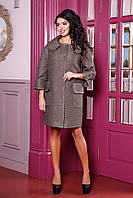Стильное женское пальто на осень В-1025 PE 14676 Тон 102