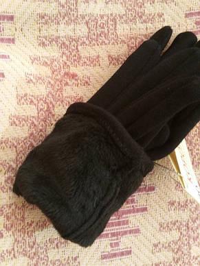 Женские перчатки теплые на флисе, фото 2