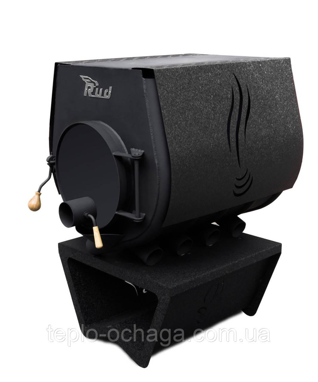 Варочная печь Rud Pyrotron Кантри 02 с варочной поверхностью обшивка декоративная (черная)
