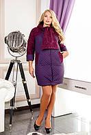 Демисезонное пальто женское В-971 PE 14361+Лаке Тон 102
