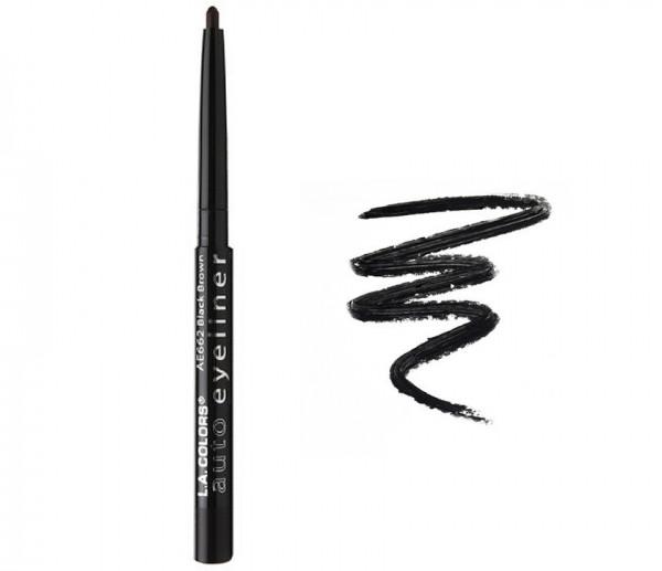 Выдвижной карандаш для глаз L.A. Colors Auto Eyeliner, Black, фото 1