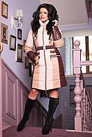 Стильный женский пуховик зима ПВ-816 (н/м) Лаке Тон 1