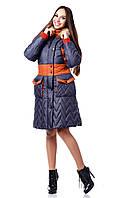 Стильный женский пуховик зима ПВ-849 (и/м) Лаке Тон 18