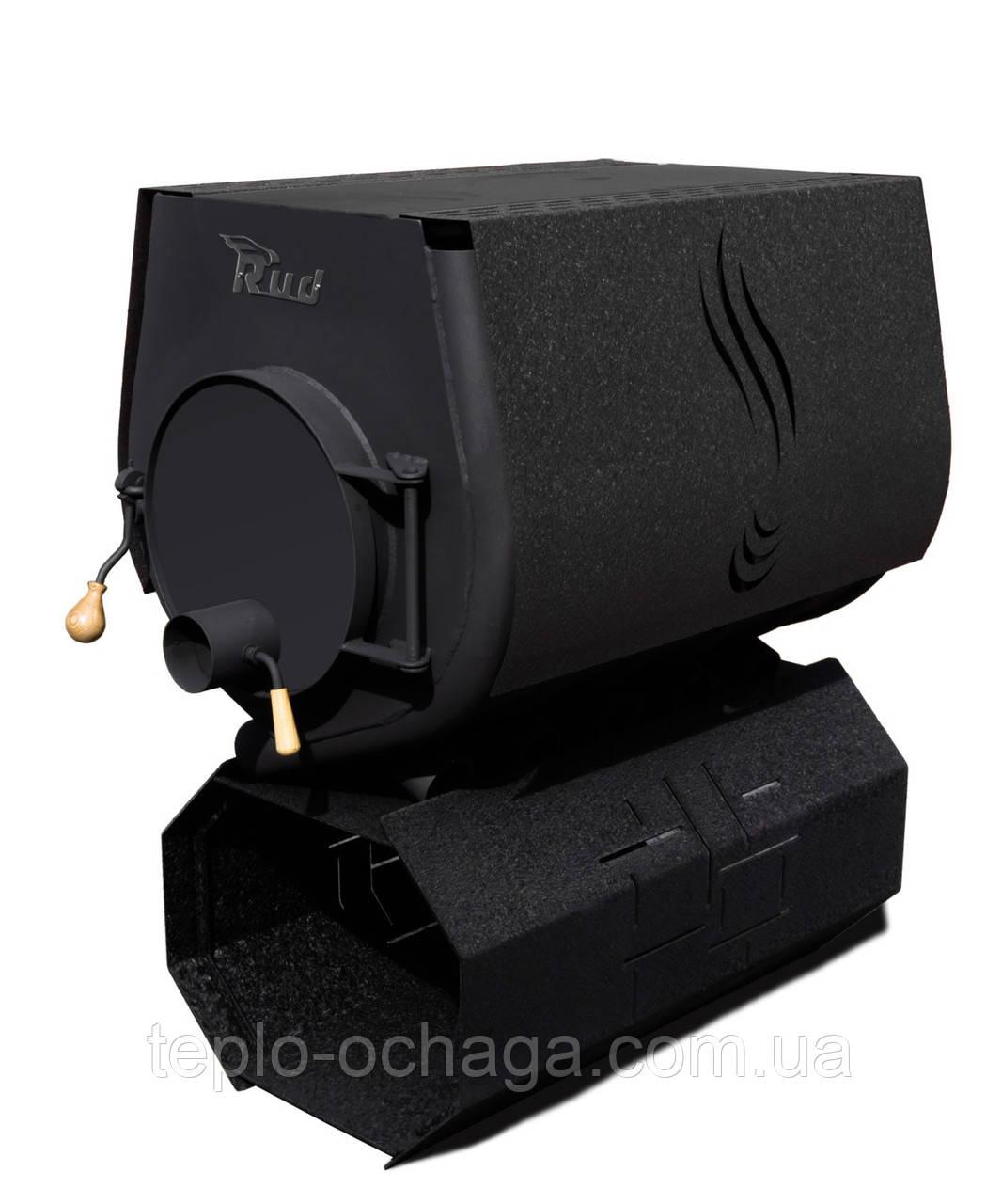 Конвекционная печь Rud Pyrotron Кантри 03 с варочной поверхностью обшивка декоративная (черная)