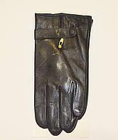 Мужские перчатки кожаные на плюше