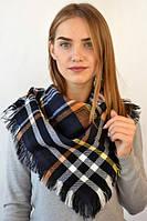 Теплый зимний молодежный ультра модный стильный оригинальный женский платок с бахрамой
