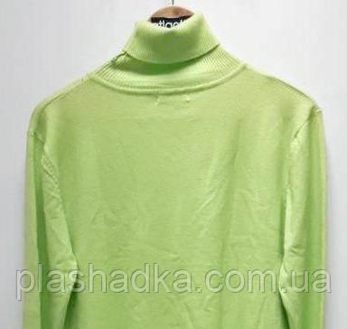 Гольф модный женский отворот, цвет ярко-салатный