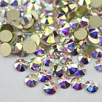 Стразы Crystal AB размер ss16 NoHotFix огранка Xirius, звёздочка
