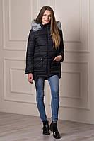Женская теплая зимняя куртка модного дизайна Kaity черная  БЕСПЛАТНАЯ ДОСТАВКА!!!