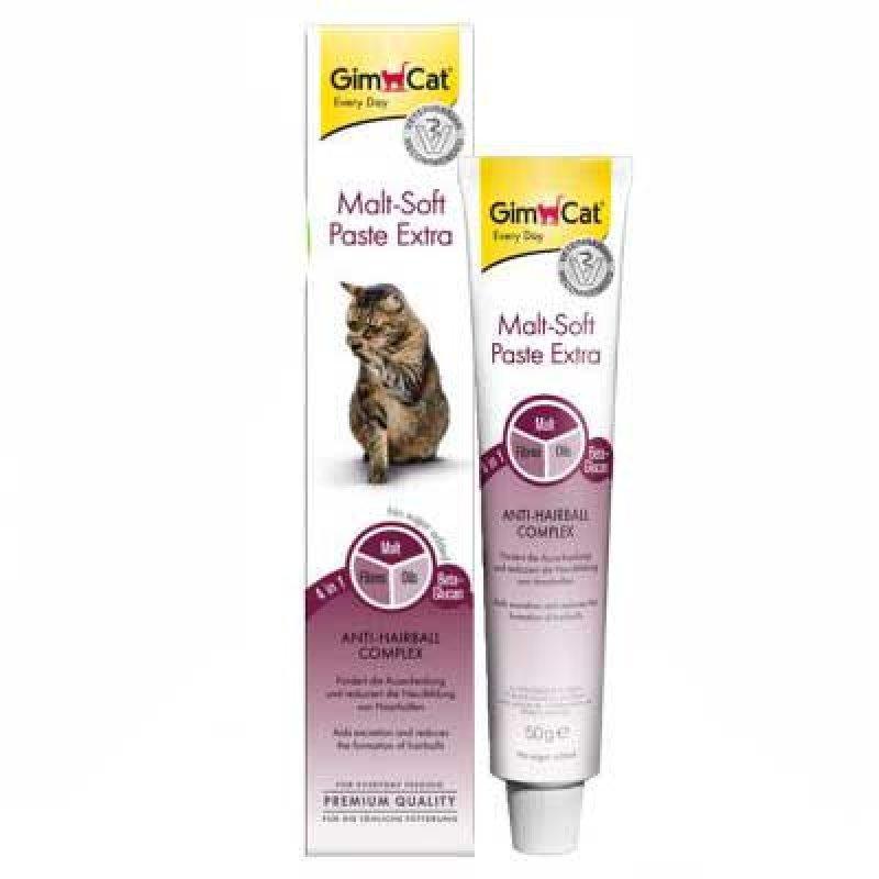Паста для котов и кошек Gimcat Malt-Soft Extra для выведения шерсти из желудка, 50г