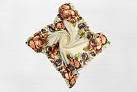 Легкий весенний надежный универсальный романтичный молодежный женский платок в цветочный принт