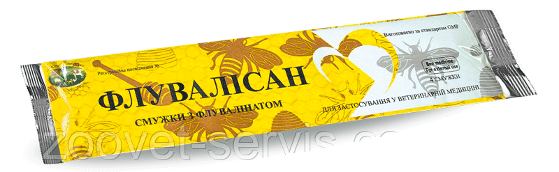 Полоски от варроатоза Флувалисан, упаковка 4 полоски