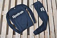 Мужской утепленный спортивный костюм Reebok / темно-серый