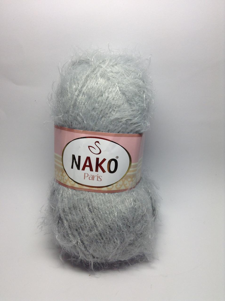 Пряжа nako paris - цвет серый