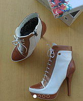 Ботинки Демисезонные D33 белый 36р