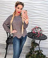Теплая женская кофта цветной меланж