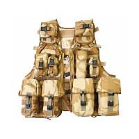 Модульная разгрузка Load Carring Tactical Vest Molle DDPM 12 подсумков. Великобритания, оригинал.