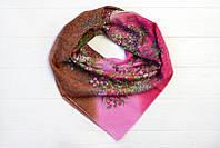 Универсальный милый молодежный стильный женский платок из натуральной ткани хлопок