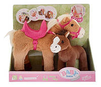 Интерактивная лошадка для куклы Baby Born Sunny & Baby Zapf Creation 822371