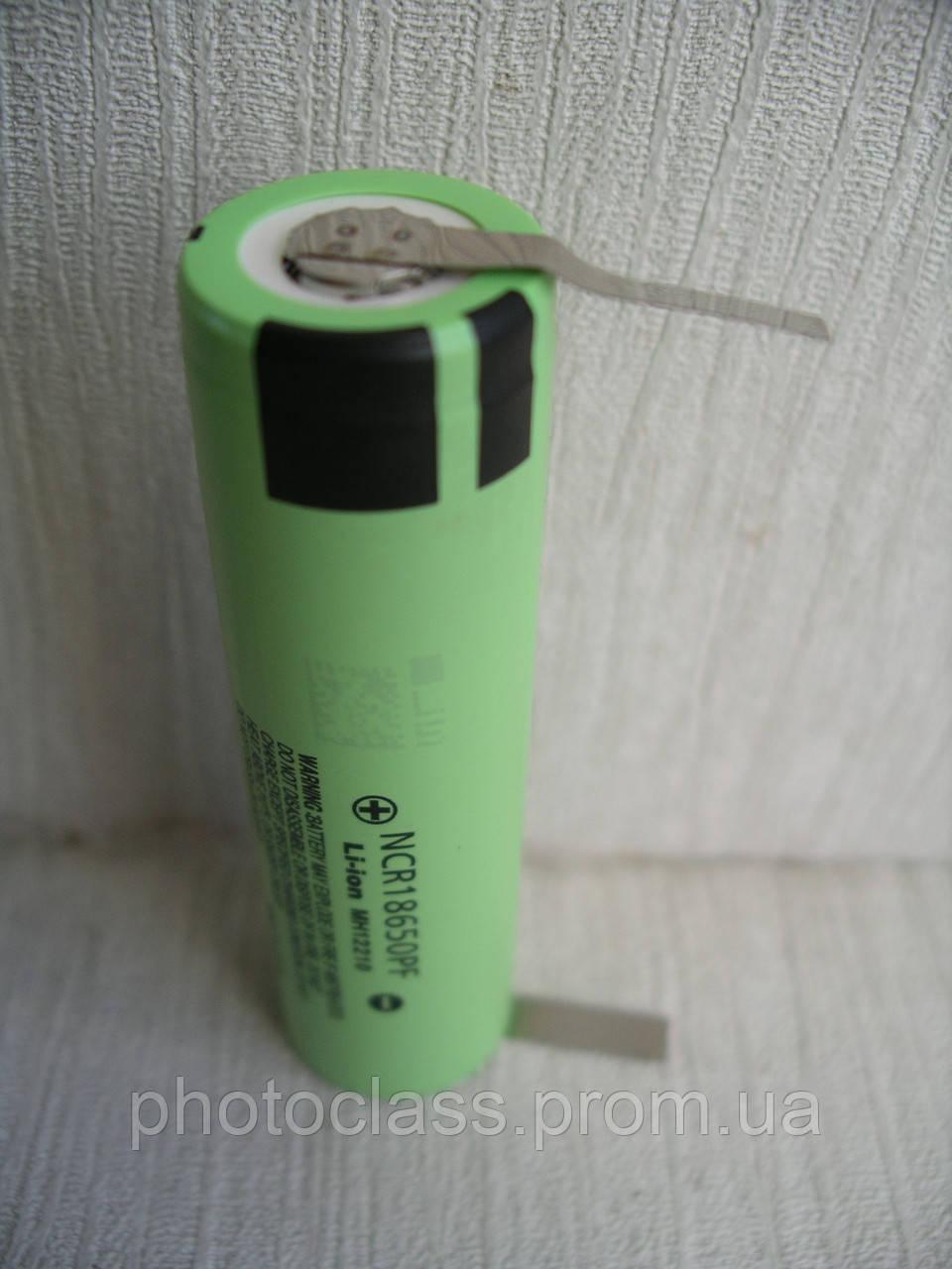 Аккумулятор с выводами U-tags Li-ion PanasonicNCR18650PF 2900mAh
