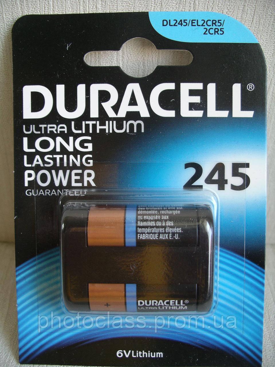 Duracell Ultra Photo 245 батарейка 2CR5, 6V