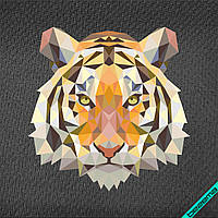 Термонаклейки для бизнеса на брюки Тигр [7 размеров в ассортименте]
