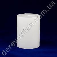 Свеча интерьерная стеариновая, белая, 7.5×10 см, 35 часов