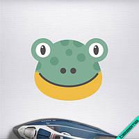 Термоаппликации для бизнеса на тапочки Лягушка [7 размеров в ассортименте]